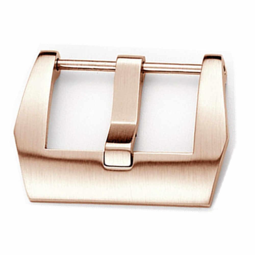 Acero inoxidable 316 20mm 22mm 24mm 26mm plata negro y broche de hebilla de tornillo Rosegold para Pam y reloj grande