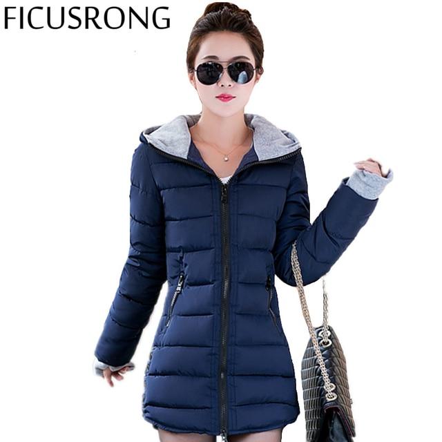 9a7db062d2 2016 New Wadded Jacket Female Women Winter Jacket Down Cotton Coat Slim  Parkas Ladies Plus Size