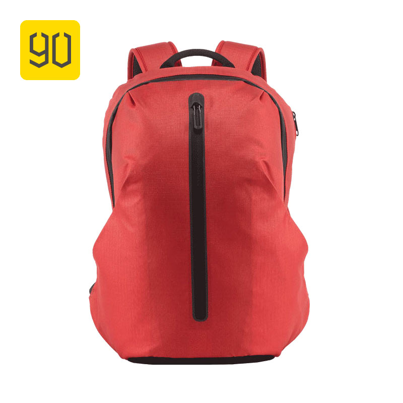 Xiaomi Ecosystem 90FUN All Weather Functional Backpack Fashion Waterproof bag Travel College School Bussiness ,Black/Orange red