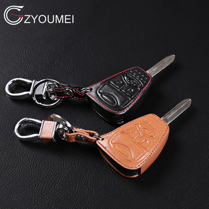 Genuine Leather Car Key Cover key ring holder For Jeep wrangler Compass Liberty CHRYSLER 300 PT Cruiser Sebring Auto Key Case(China)