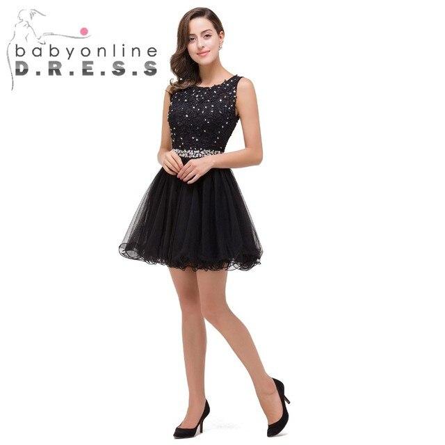 ba7ddbfe3 Vestido de Festa Curto Barato Negro Rosa de Encaje Corto Moldeado vestidos  de fiesta 2017 sweet