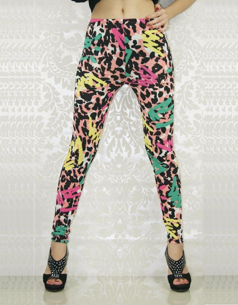 Leopard Print Women Leggings 2015 Wholesale Price Fashion Stones Textures Tattoo Sexy Print Leggings WL8038