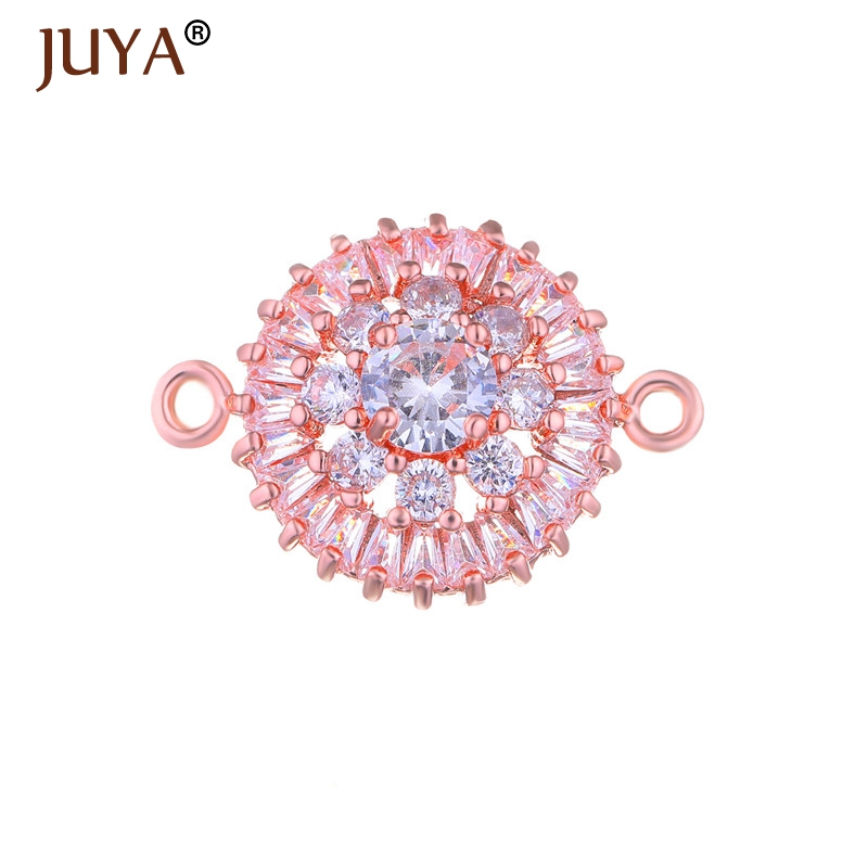 jewelry findings components luxury cubic zirconia crystal connectors for diy fashion bracelets necklace accessories parts