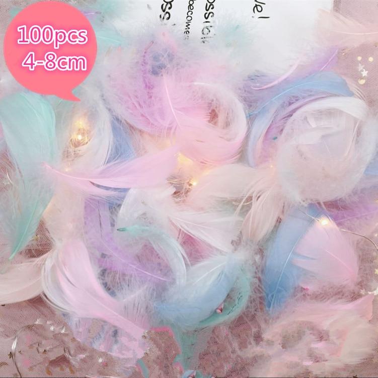 100 шт, натуральные перья лебедя, 4 8 см, разноцветные гусиное перо, одежда для свадебной вечеринки, украшения для самодельного изготовления перьев-in Перо from Дом и сад on Aliexpress.com | Alibaba Group