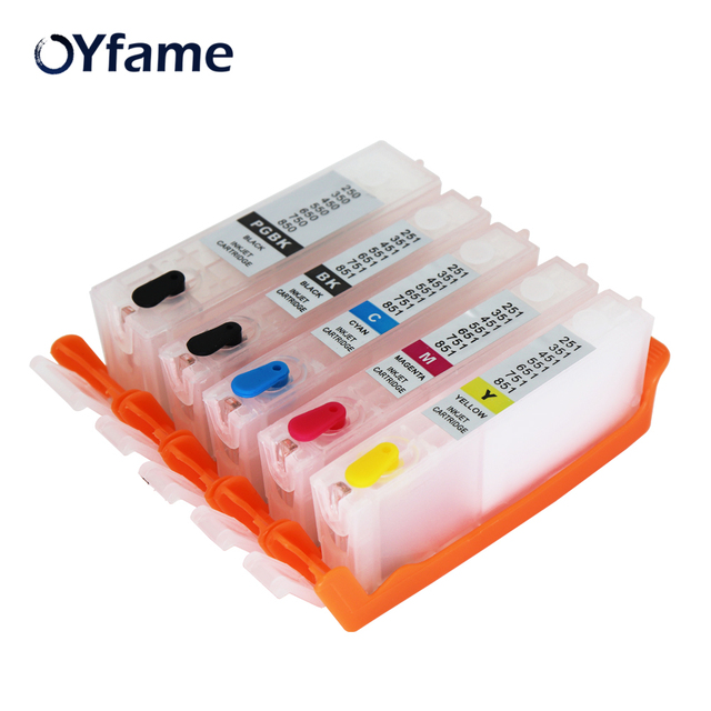 OYfame PGI450 CLI451 Refillable מחסניות דיו עבור CANON IP7240 MG5440 דיו מחסנית MG5440 MG5540 MG6440 MG6640 מדפסת