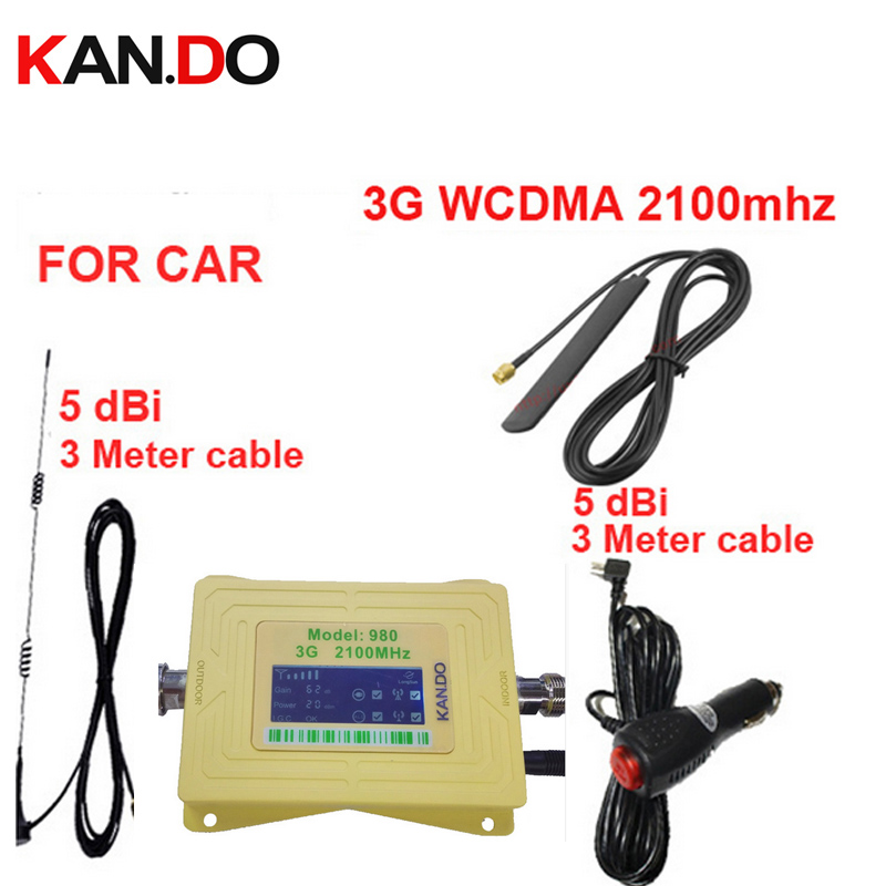 For Russia Car Booster 3G 2100Mhz Mobile Phone Signal Booster For Car,LCD Display WCDMA 2100mhz Signal Repeater 3G For Vehicle