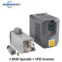 Шпинделя 1.5KW 110 В 220 В двигатель с ЧПУ шпинделя ER11 маршрутизатор 1.5KW преобразователя VFD инвертор для фрезерования Гравировка Инструменты