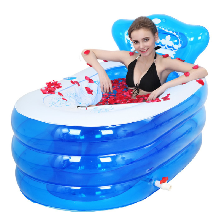 Portable bath adult bathtub plastic inflatable bath tub adults folding inflavel inflatable SPA 160cm 90cm 75cm