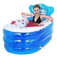 Portable bath adult bathtub plastic inflatable bath tub adults folding inflavel inflatable SPA 160cm*90cm*75cm Foot Air Pump