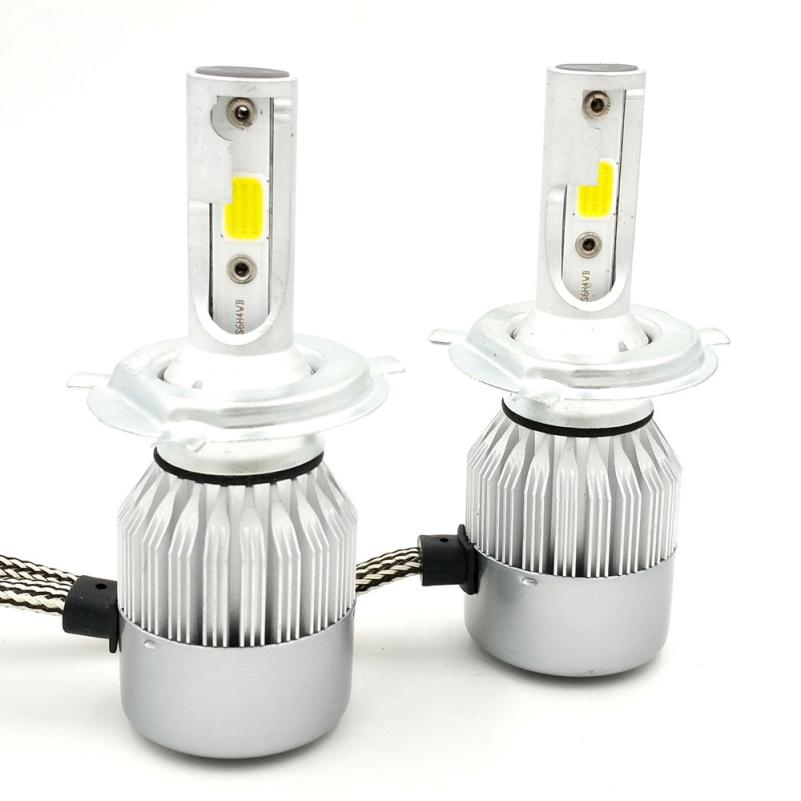 Car styling H4 7600LM LED Headlight Conversion Kit Car Beam Bulb Driving font b Lamp b