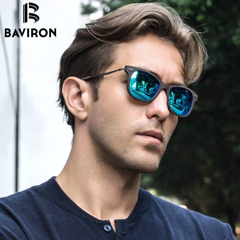 BAVIRON 2017 New Men Sun Glasses Wood Retro Classic Sunglasses Women font b Polarized b font