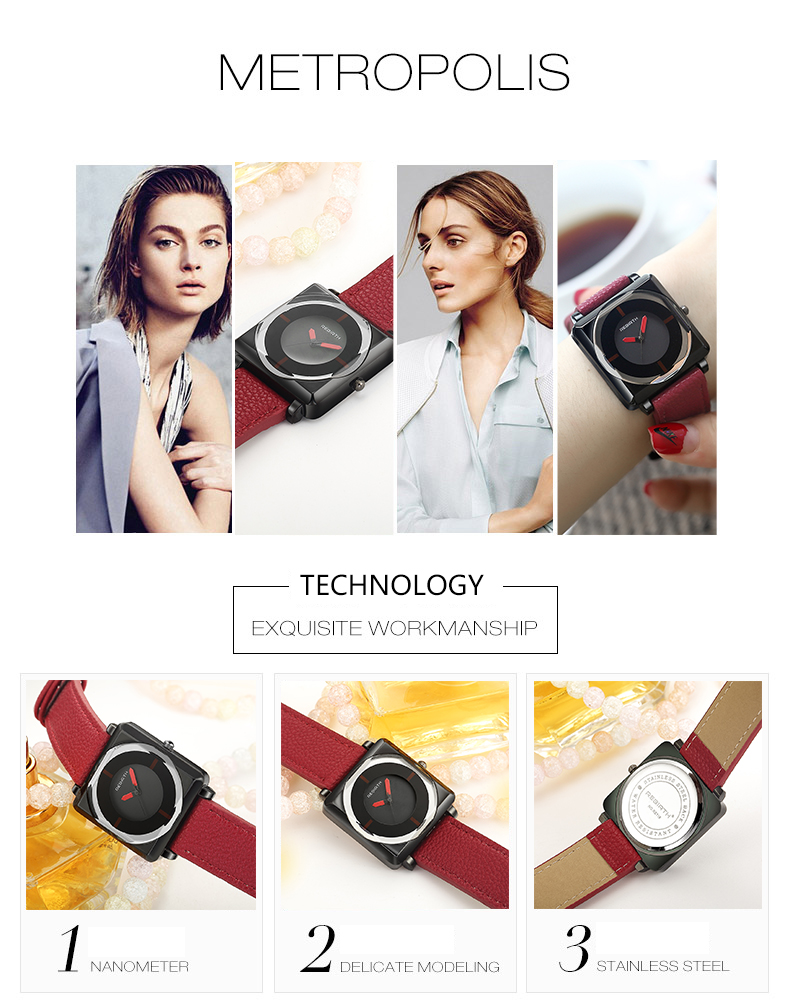 Wow Jewelry Shop Square Crystal Tephea  Watches