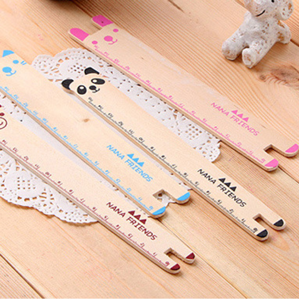 2019 New Style  Animals Wood Straight Ruler Panda Ruler For Kids Student Stationery Measuring Drafting Tool