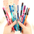 10 Unids Creativo Star Night Color Gel Ink Pen Boligrafos Caliente Boligrafos Plumas de Gel Kawaii Kawaii Útiles Escolares Al Por Mayor