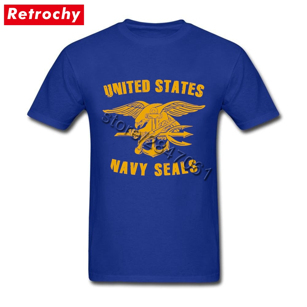 US $12 54 43% OFF|2019 Male Awesome U S  Navy Seals T Shirts Short Sleeved  Designer Special Force T Shirt Adult Oversize Clothing-in T-Shirts from