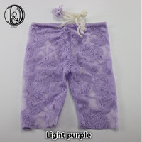 Handmade Newborn Mini Lace Pants With Matched Headband Full Set Baby Shower Gift Props For Baby