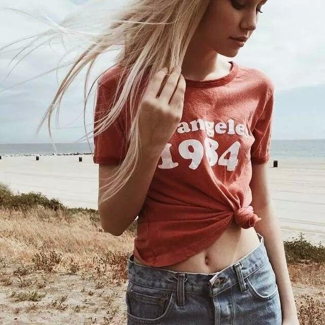 Madingi marškinėliai moterims Los Angeles 1984