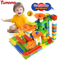 Tumama 47 123pcs Marble Race Run Maze Balls Rolling Building Blocks Compatible With Legoed Duplo Kids