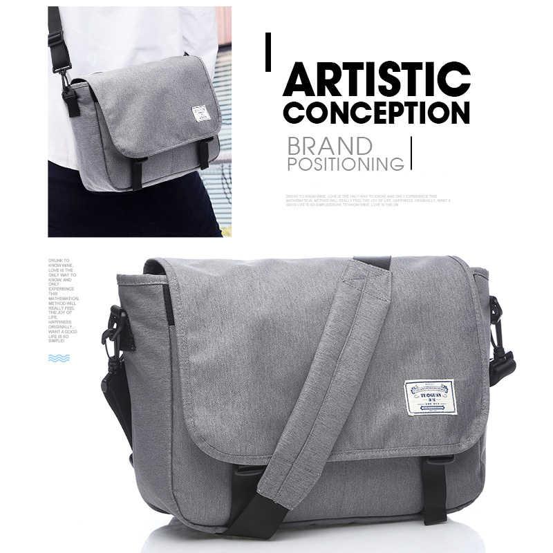 38f52b06a34f ... TUGUAN мужские сумки-мессенджеры мужские модные деловые дорожные сумки  на плечо женские парусиновые портфели мужские ...