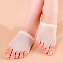 1Pair New Belly Ballet Dance Foot Care Socks Practice Shoes Toe Pad Feet Protection
