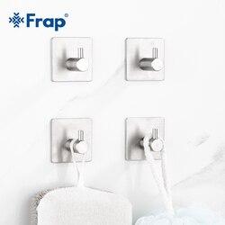 Gancho de toalha para parede Frap, gancho de toalha de axo inoxidável 304 para cozinha e parede, 4 peças Y19002