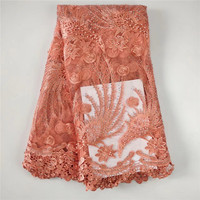 WH 2018 High Quality Nigerian French Lace African Lace Fabric For Party Dress 5yards Lot Free