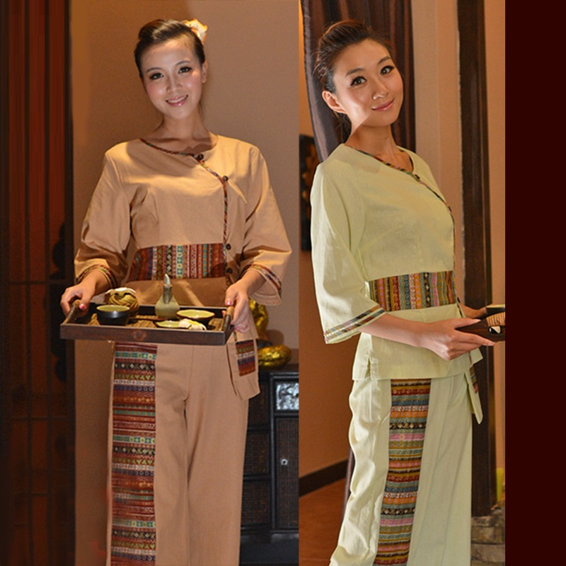 Green ts13 Beauté Usure Ts14 Travail Sets Porter Club Du Des Asie Vêtements lot Uniformes Style 5 Thai Sud Services Spa Yellow Gros FUnHxRnq0