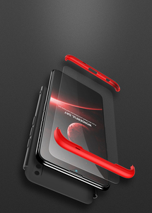 Image 4 - Voor Huawei P Smart 2019 360 Graden Volledige Bescherming Hard Plastic Gevallen Voor Huawei P Smart 2019 POT LX3 Case Gehard glas