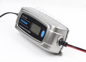 Image 2 - FOXSUR 6 V 12 V 11 stage Auto Acculader Lood zuur Oplaadbare Batterij Automatische Intelligente Puls Lader met lcd scherm