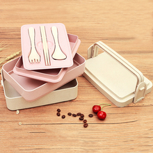 2/3 Layer Healthy Material Lunch Box Wheat Straw Bento Boxes Microwave Dinnerware Food Storage Container Lunchbox