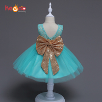 Keenomommy Toddler Girls Princess Tutu Dress Baby Lace Party Dress Sequins Bows Holiday Candy Dress Ball