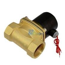 Высокое качество электромагнитный клапан NPT1.5 » AC 220 В вода воздух нефтяной газ нормально закрытый электрический