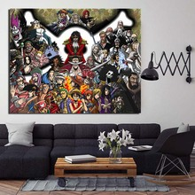 Cool One Piece Characters Anime Wall Art Canvas Painting Nordic Posters And Prints Pictures Kids Room Decoration