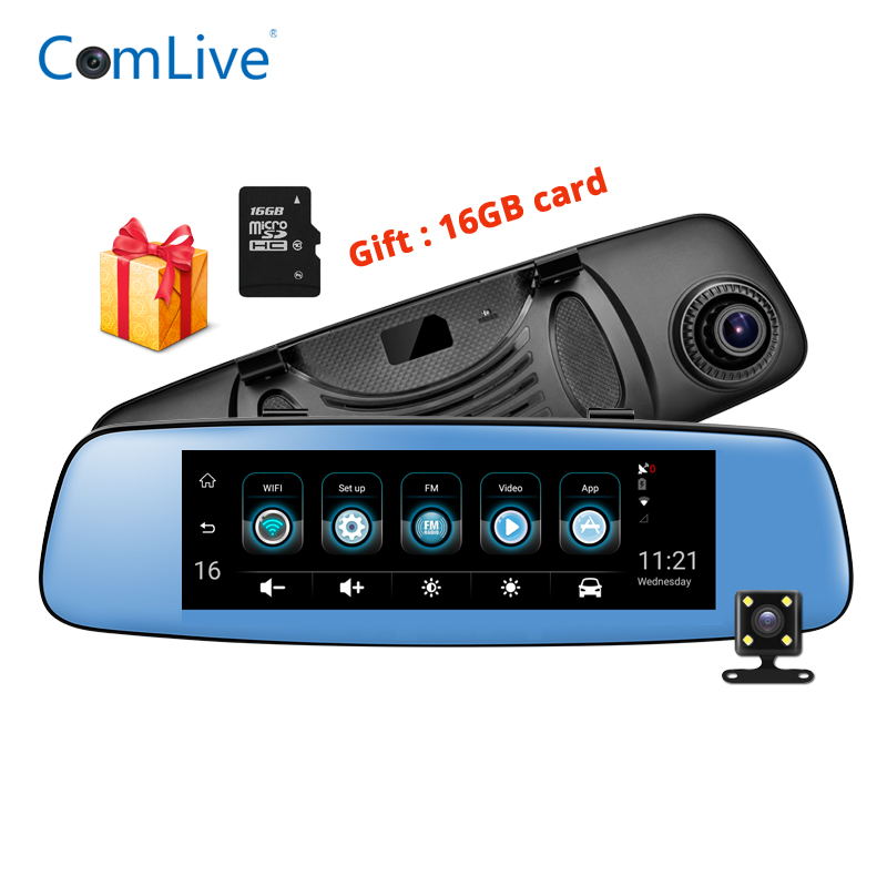 3G Car Mirror DVR rear view camera registrar FHD video recorder 7.84 IPS Touch Android with two cameras dash cam wifi gps dvrs