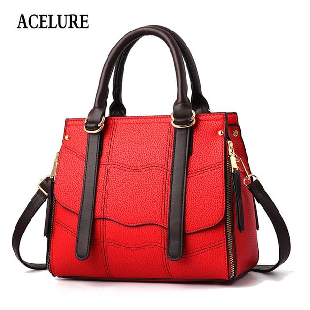 07973996b2 ACELURE NEW Women s handbag satchels Zipper lattice Large capacity luxury  handbags women bags designer Female shoulder bag bolsa