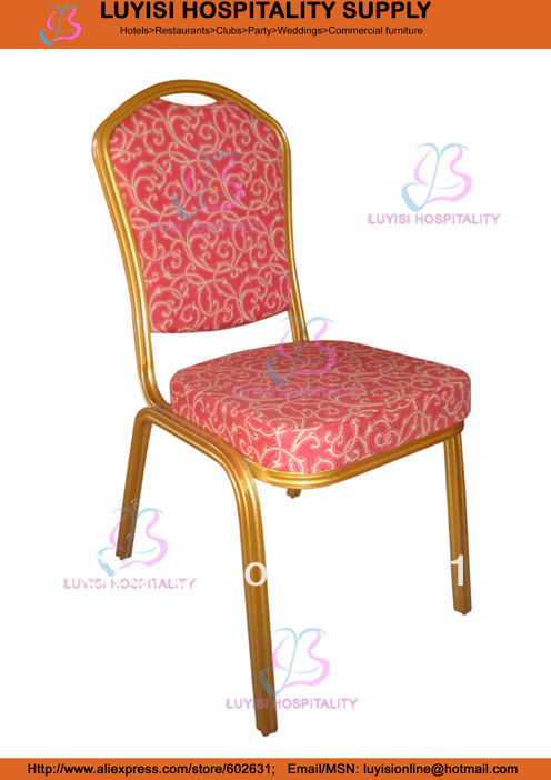 comfortable stacking Aluminum Banquet chair hot sale stacking steel banquet chair luyisi1039
