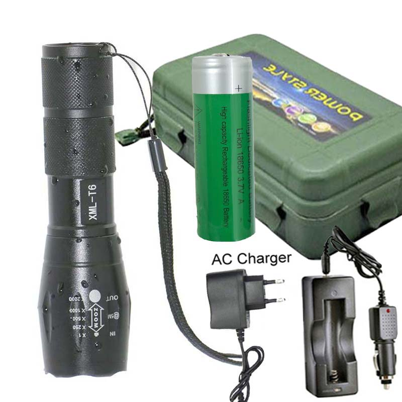 18650 battery zoom torch lights waterproof AAA flashlight XM-L T6 3800LM 5 mode led Zoomable light with battery charger waterproof xm l t6 2200 lumen torch tactical zoom led flashlight torch light lanternas led by 3 aaa 18650 battery