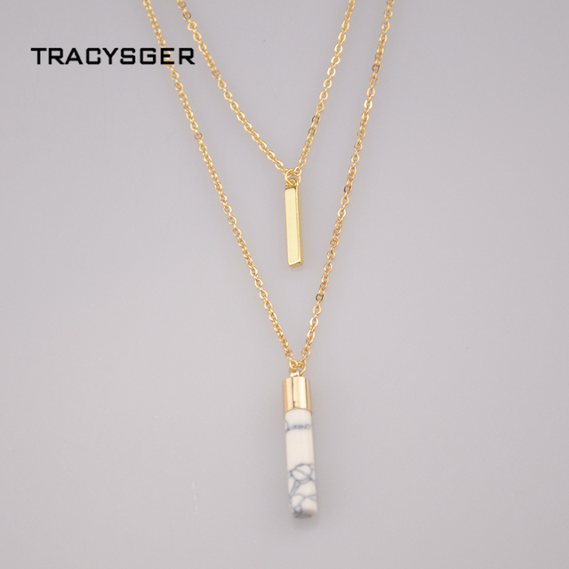 xl20492   /sweet girl jewelry /European style necklace pendant inlaid white fine stone double lady Necklace