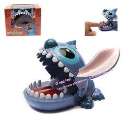 Lindo Stitch boca dentista morder Finger juego divertido juguete regalo de Lilo y Stitch película divertidos tags juguete Novetly juguetes para regalo de niños
