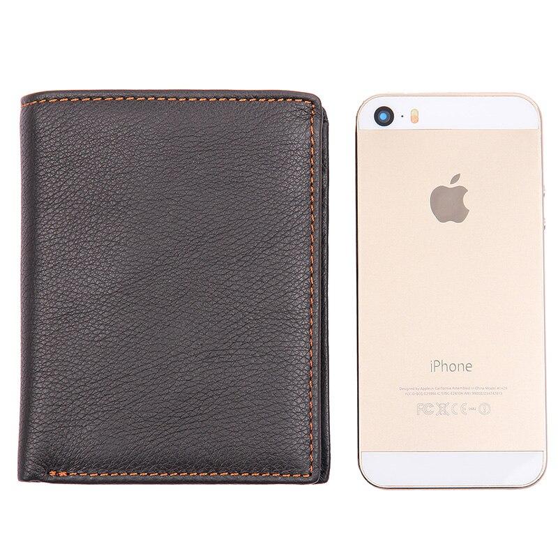 J.M.D Genuine Cow Leather Bifold Purse Credit Card Holder Wallet Billfold