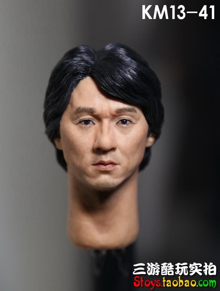 ФОТО 1/6 scale doll Accessory HK Jackie Chan headsculpt male head shape for 12