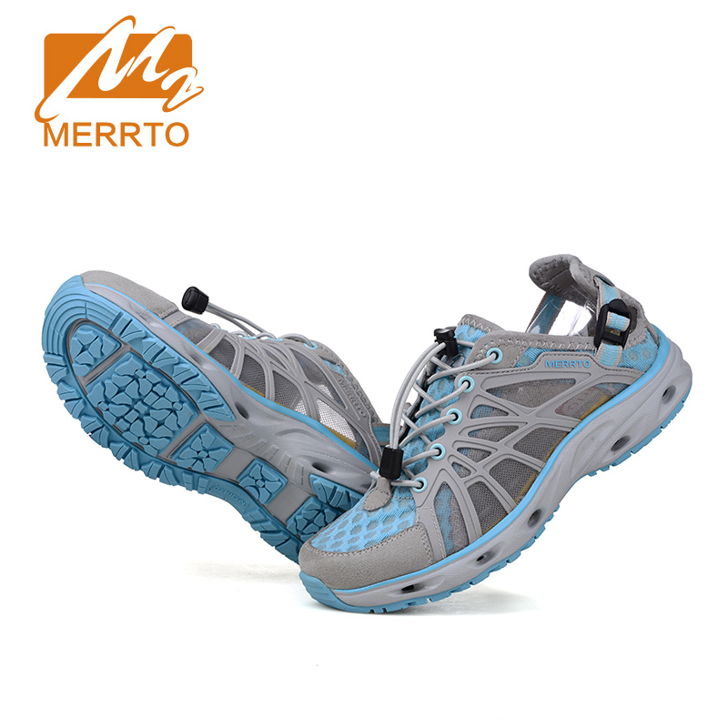 Merrto new brand women beach water shoes aqua sandals for Wading shoes for fishing