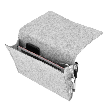 Sofa Armrest Organizer Couch Multifunctional Bedside Storage Bag Book Remote Control Holder (Grey) Гриль