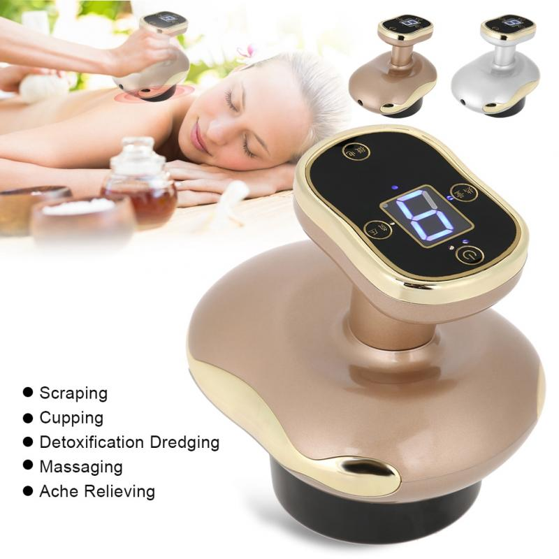 Electric Negative Pressure Scraping Cupping Therapy Massager Body Detoxification Dredging Ache US Plug