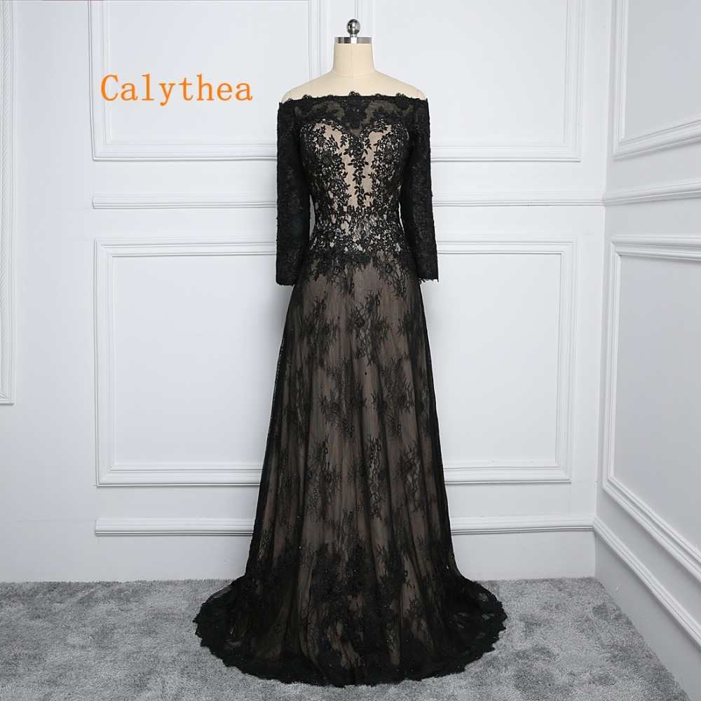 Calythea New Spring Elegant Inspired Black Lace Evening ...