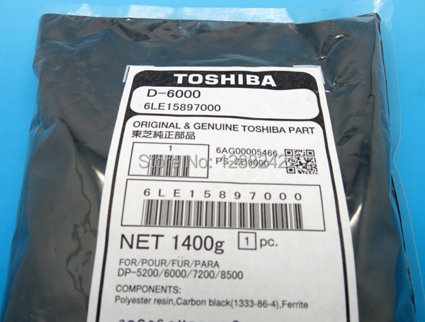 For Toshiba photocopier D-6000 Developer 6LE15897000 Genuine for Toshiba E-studio 520/555/600/620/655 for toshiba copier parts
