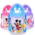 350/500 ml garrafa PP Eco copos de Bebê Do Miúdo dos desenhos animados do bebê crianças Garrafa com Palha