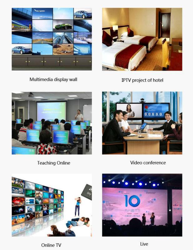 H.265 / H.264 SDI WIFI IPTV შიფრატორის - სახლის აუდიო და ვიდეო - ფოტო 6