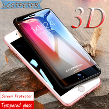 Luxury 9H Clear protection Tempered Glass For Iphone 7 Glass 3D Full cover Screen protector Film for iphone 6S 6 7 8 Plus Glass