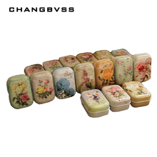32pcs/lot Vintage Flower Printing Mini Tin Box for Jewelry Wedding Favor Candy Decorative Storage Boxes, Cute Coins Tea Case(China)